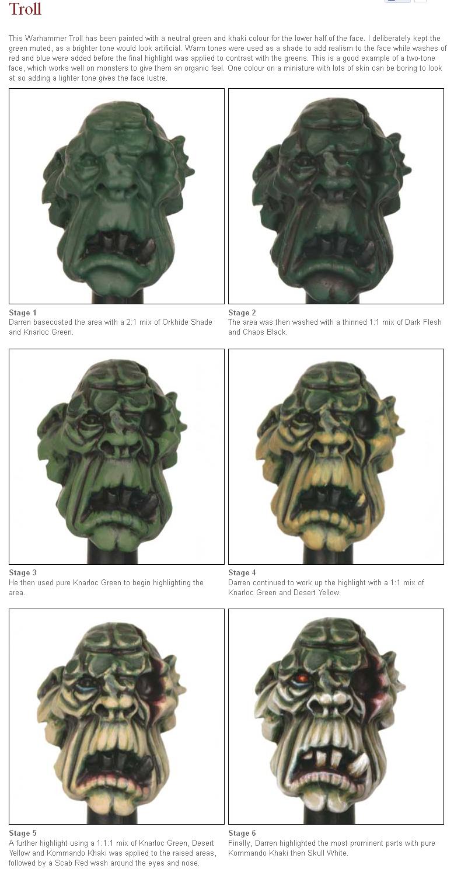 Eavy Metal Monstrous Faces Web Tutorials