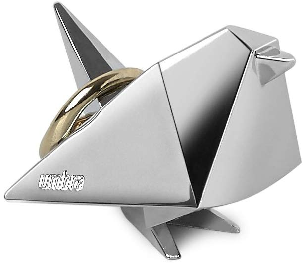 Photo of Amazon.com: Umbra Origami Bird Ring Holder, Metal Ring Storage and Display for J…