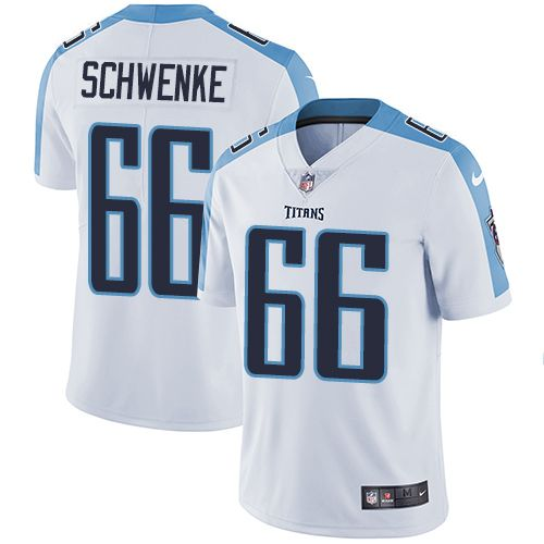 cheaper f6ea3 99443 Men's Nike Tennessee Titans #66 Brian Schwenke Limited White ...