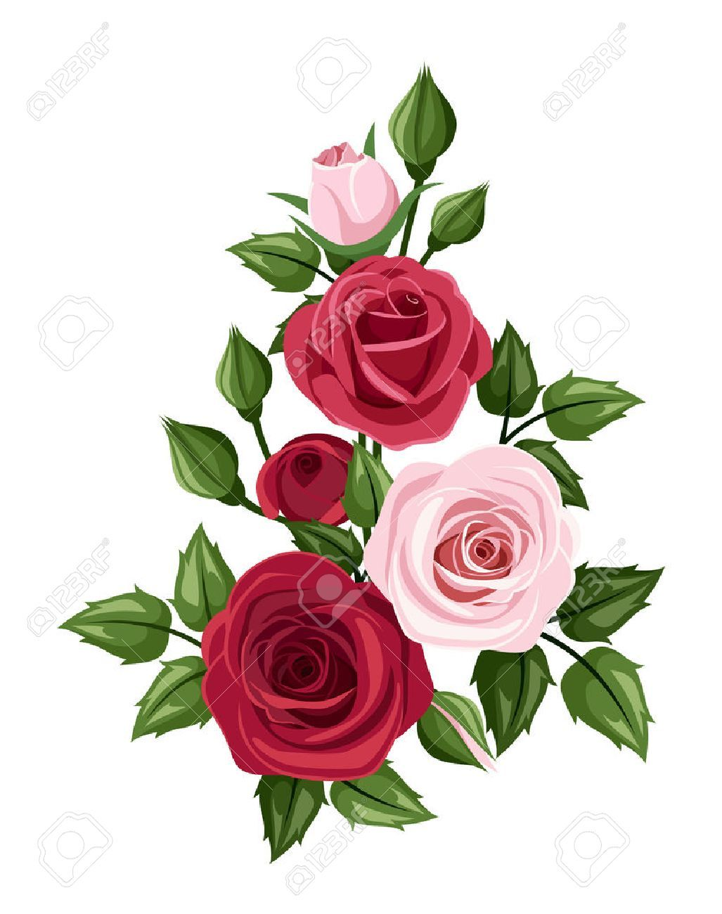 Pink Rose Clipart burgundy 16 1027 X 1300