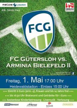 Der Gütersloher Heidewald als Ziel für die Mai-Tour: Ab 15 Uhr gibt's Beatwurst und Bier und ab 17 Uhr das Derby gegen Arminia Bielefeld II,