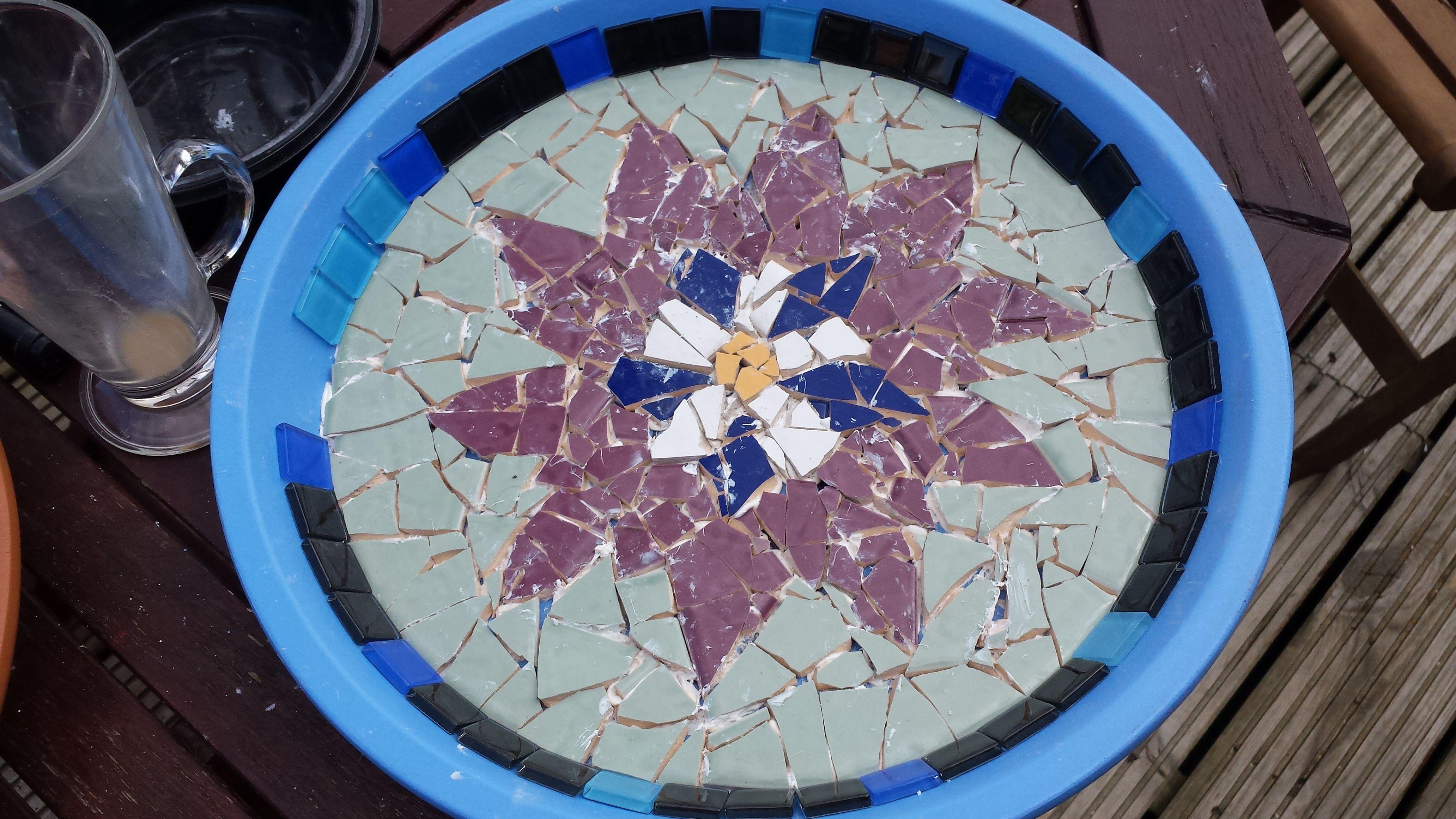 Mosaic of lotus flower