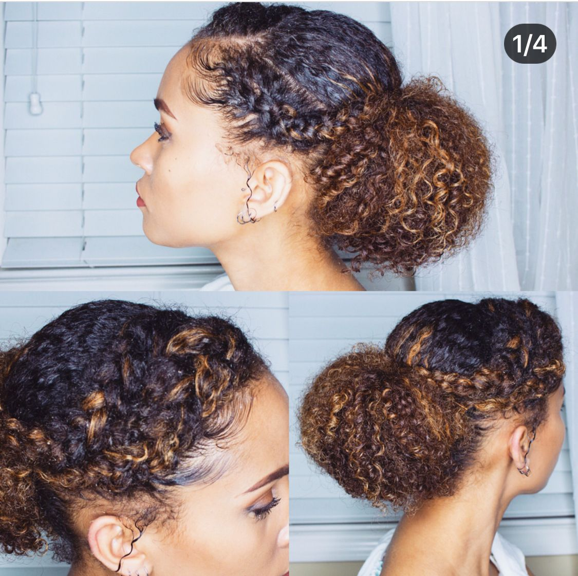 P I N T E R E S T Dboobee Ig 365daysofnaturalhair Natural Hair Bun Styles Naturally Curly Hair Updo Glamorous Hair