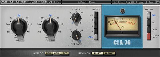 Cla 76 Compressor Limiter Waves Plugins Waves Audio Cla