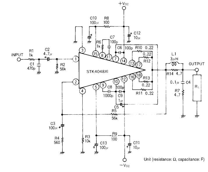 Diagrama del circuito de audio de 150W ~ AmplifierCircuits