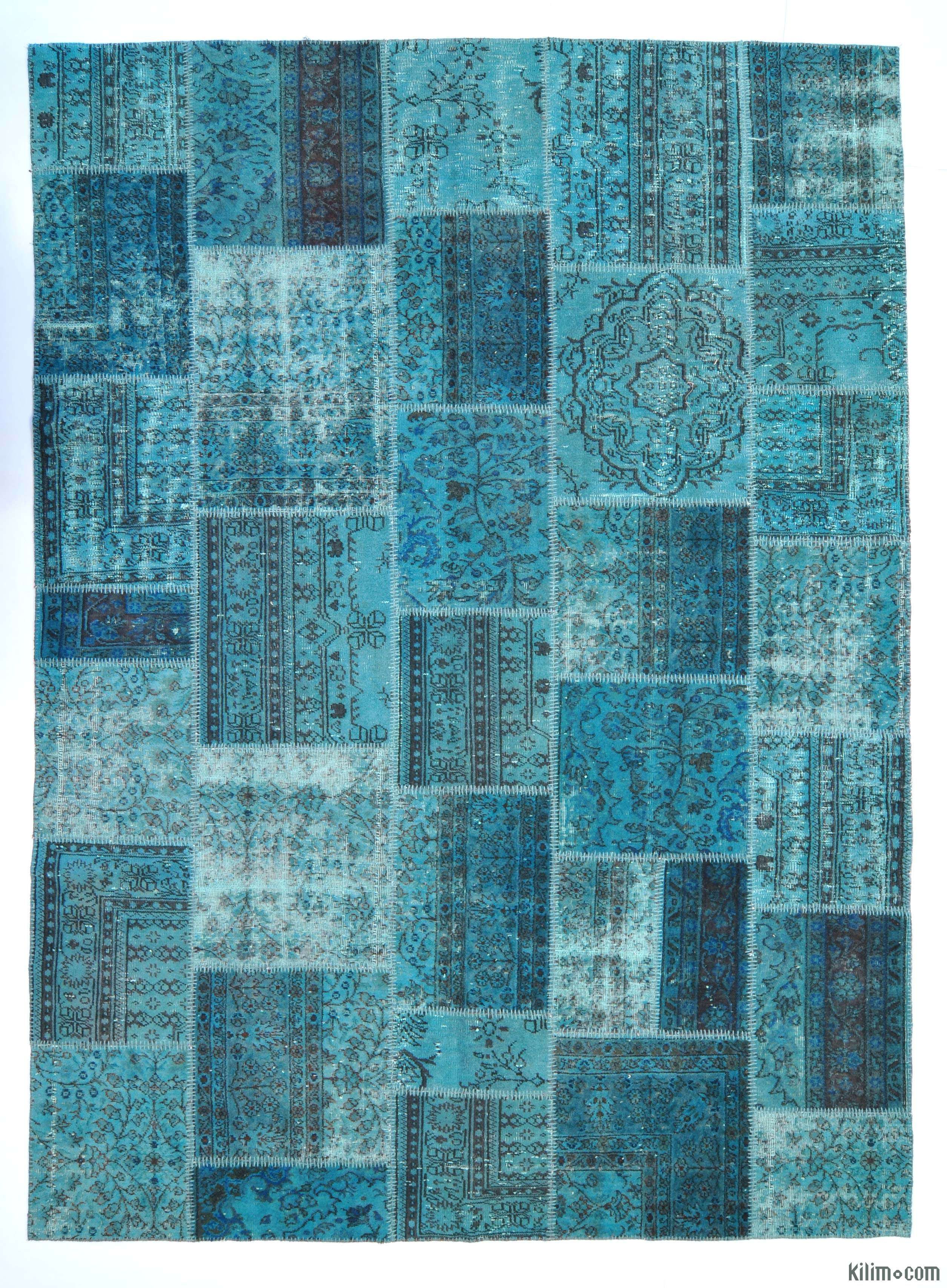 Over Dyed Turkish Patchwork Rug For The Home In 2019
