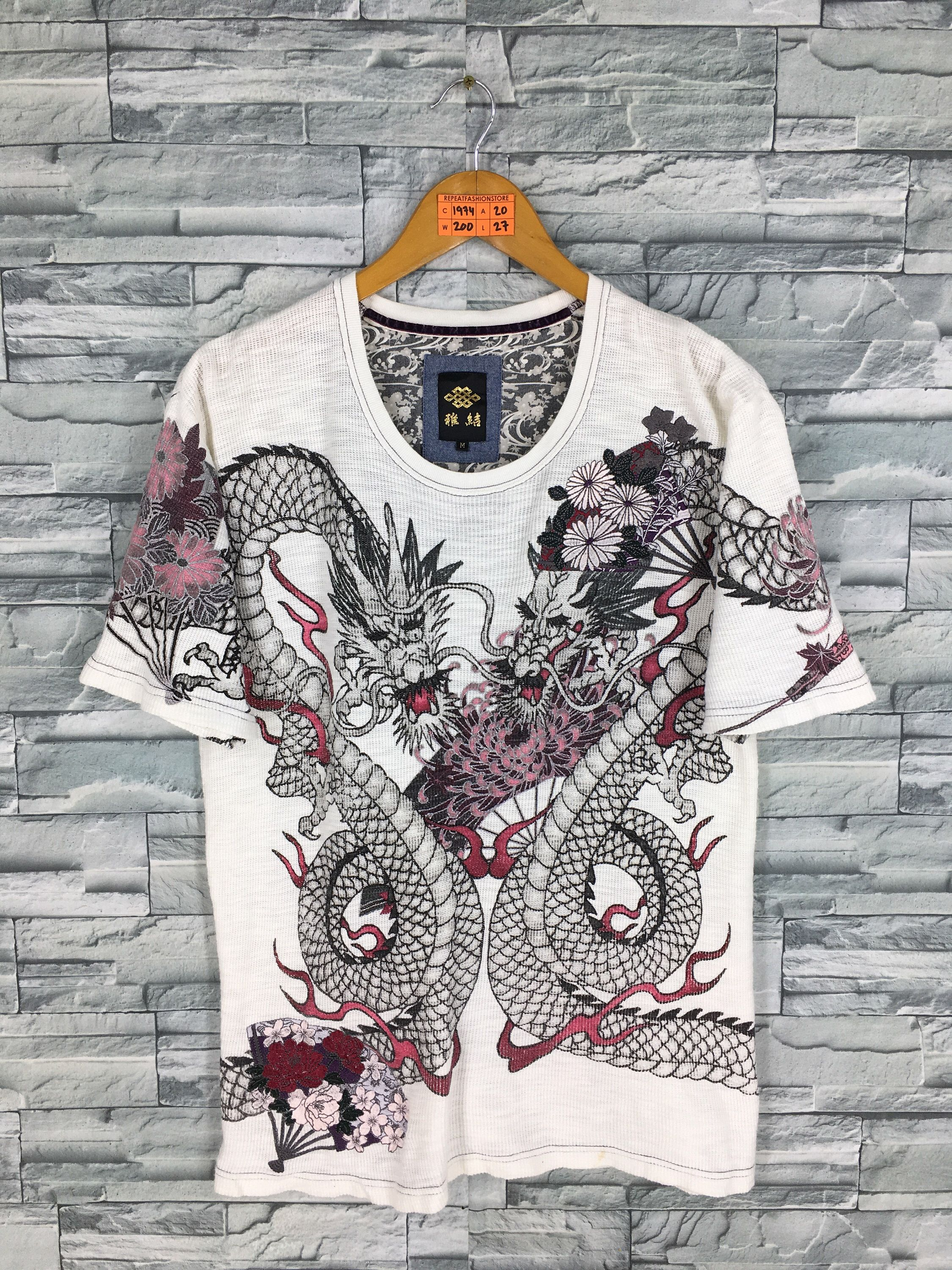 Excited To Share This Item From My Etsy Shop Vintage 90 S Dragon Sukajan Tshirt Medium Unise Japanese Tattoo Japanese Tattoos For Men Japanese Tattoo Designs