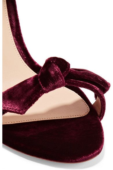 75ebb5f3512 Heel measures approximately 75mm  3 inches Burgundy velvet Ties at ...