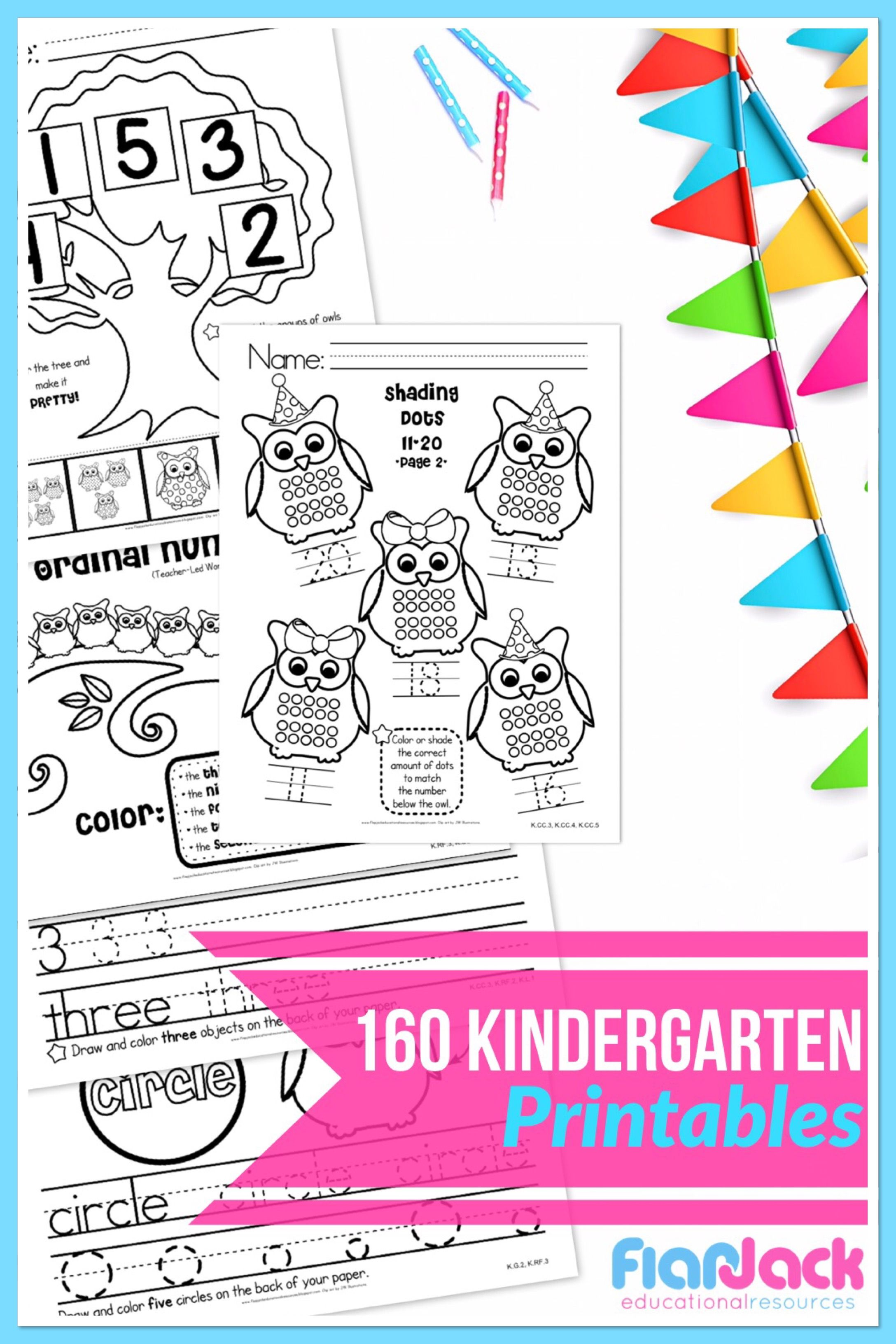 Kindergarten Math Amp Literacy Owl Worksheets