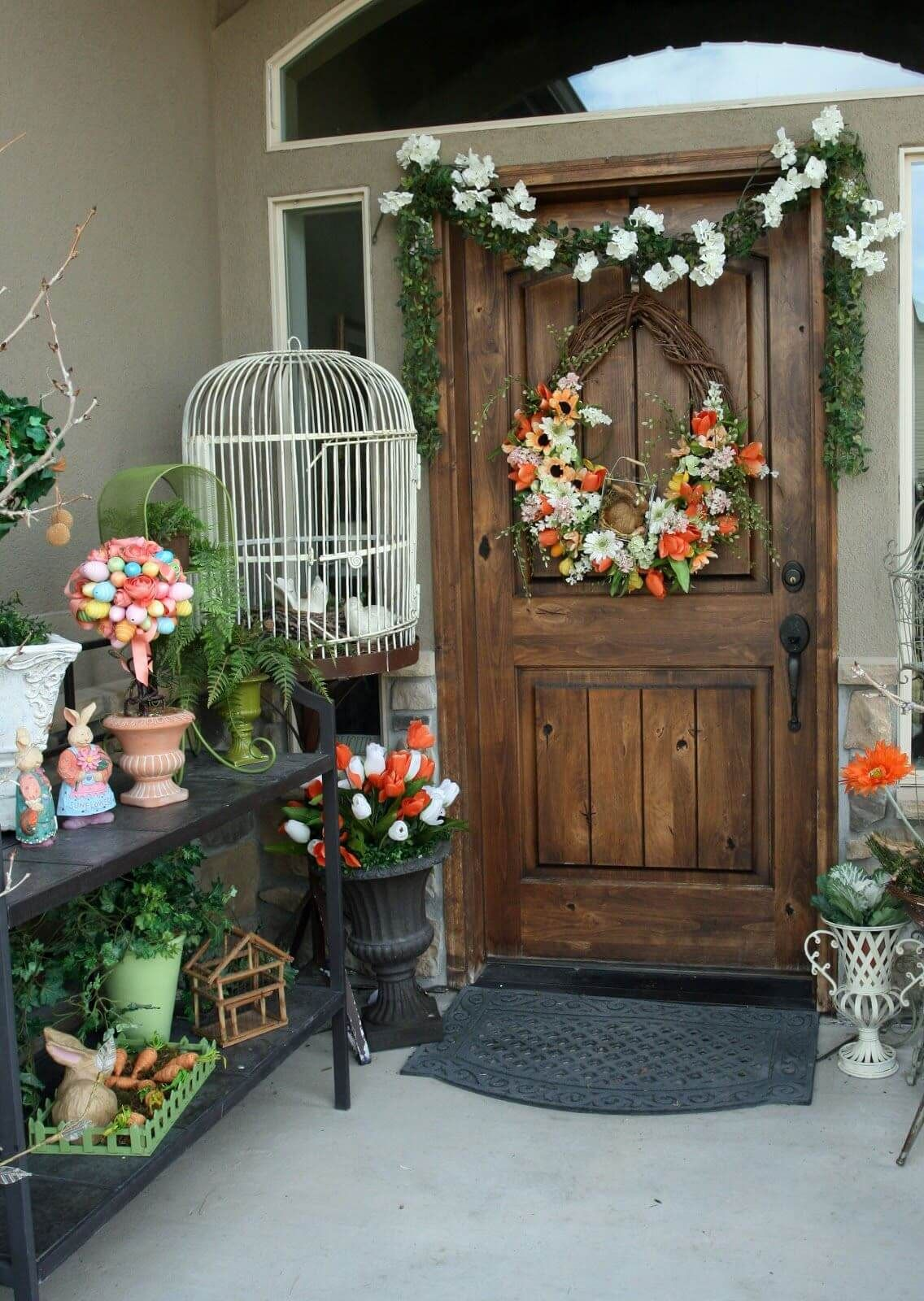23 Fun And Adorable Easter Porch Decor Ideas Decorating The Entire