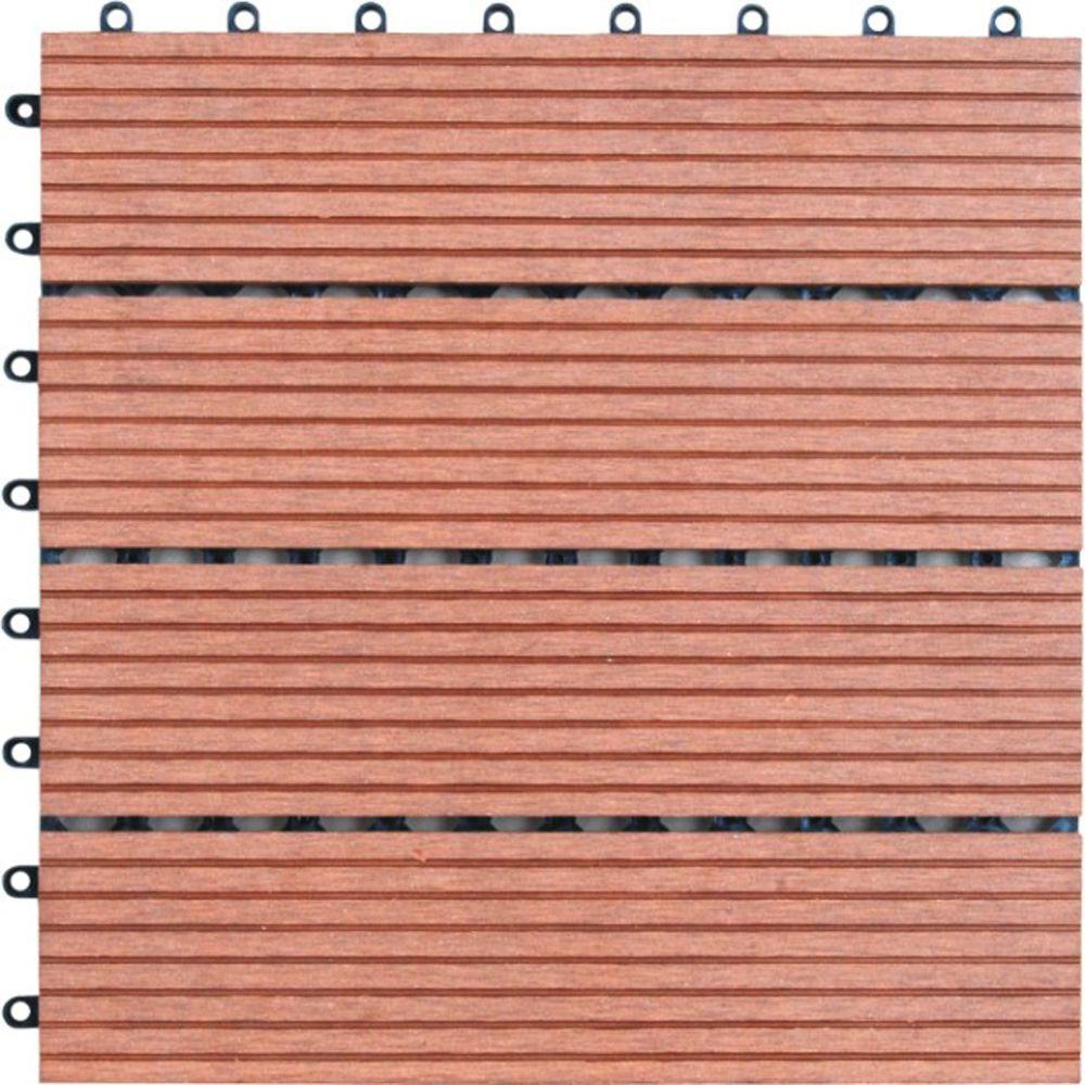 Naturesort M Slat 1 Ft X 1 Ft Composite Deck Tiles In Bamboo 11
