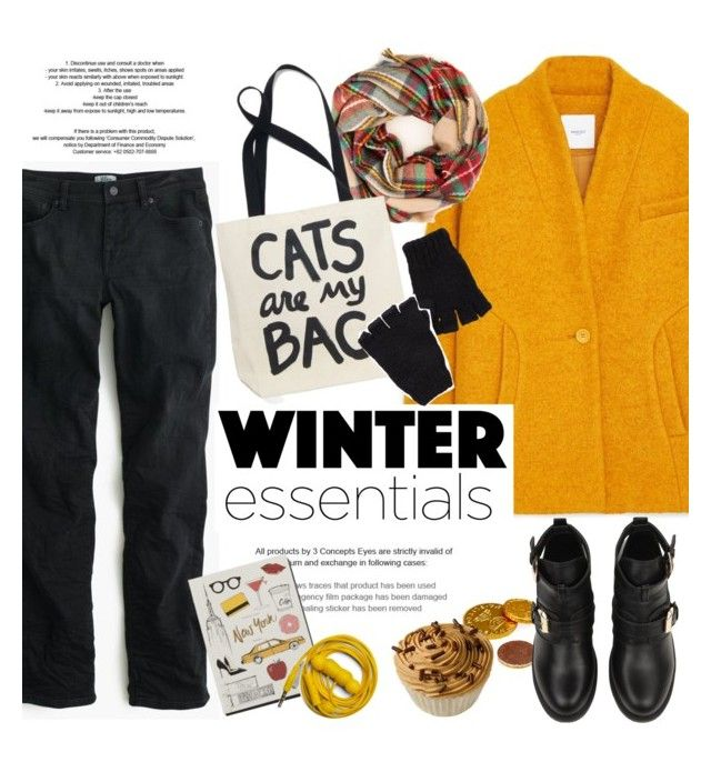 """Untitled #780"" by intellectual-blackness ❤ liked on Polyvore featuring MANGO, J.Crew, The Elder Statesman, Garance Doré, Urbanears and winteressentials"