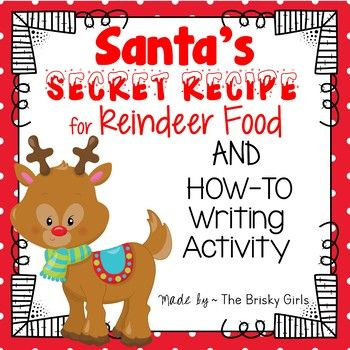 Reindeer food letter from santa bag toppers and how to writing here is a top secret mission from santa he needs everyone to make magic reindeer food to help his reindeer stay flying strong through the night spiritdancerdesigns Image collections