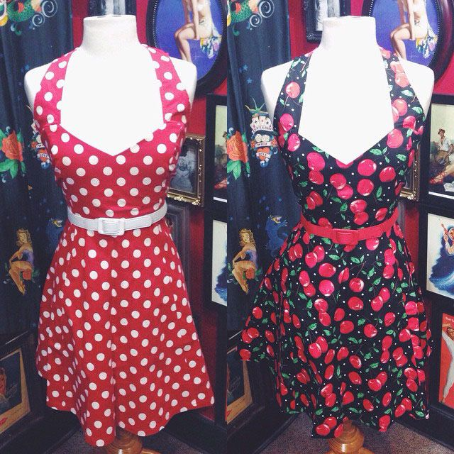 An absolute must-have, the Cherry Pie Floozy Dress and the Polka Dot Floozy Dress in Red will have you looking like a pin up bombshell! #blamebetty #floozy #pinup