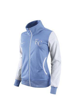 Nike Kansas City Royals Womens Classic Track Light Blue