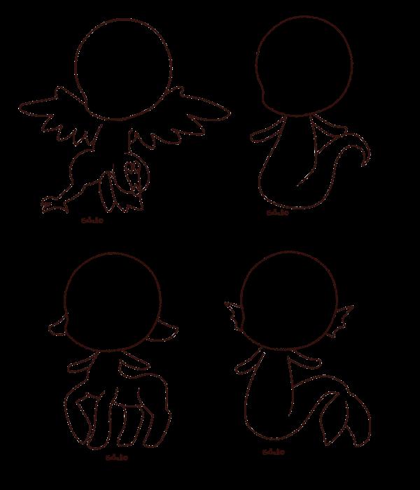 Chibi Base 4 Chibi Drawings Kawaii Drawings Chibi Body