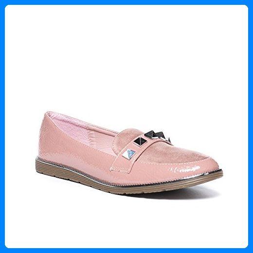 Damen Schuhe Slipper Creme 40 Mokassins Loafers Azijewc Moderne MSVzGpqU