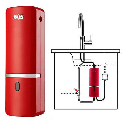 240v Tankless Instant Water Heater Under Sink Kitchen Basin Hot