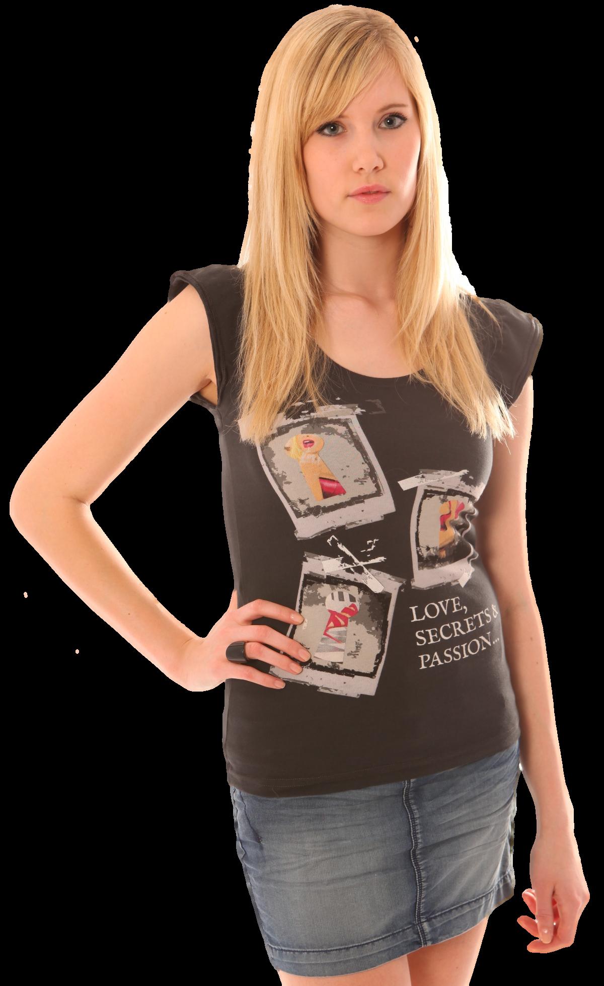 Stylisches Shirt von Daniela Katzenberger by Henry K. Oklah. - auch in weiß erhältlich