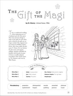 The Gift Of The Magi O Henry United States 1906 Read Aloud Play Printables Read Aloud 8th Grade Reading English Lesson Plans