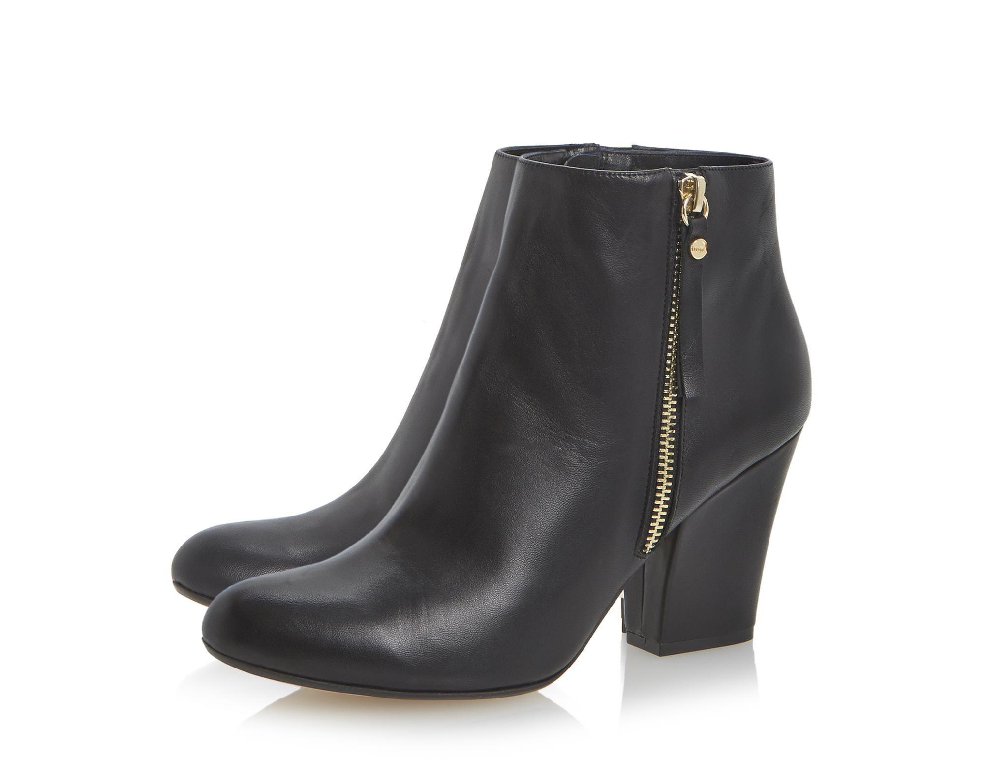 10b33041583 DUNE LADIES NINETY - Tassel Detail Block Heel Ankle Boot - black ...