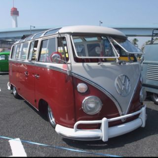 Type 1 VW Bus with safari windows also known as a Kombi (Austrailia) and Bulli (Germany)