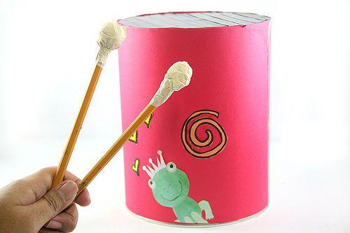 make a homemade drum music teaching ideas homemade drum diy drums drums art. Black Bedroom Furniture Sets. Home Design Ideas