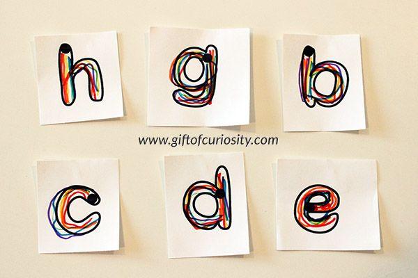 Rainbow Writing  Ways To Teach The Alphabet  Rainbow Writing