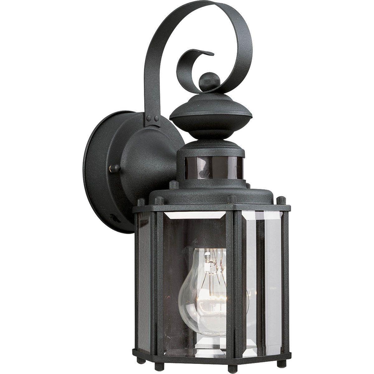 Progress lighting motion sensor black light wall lantern black