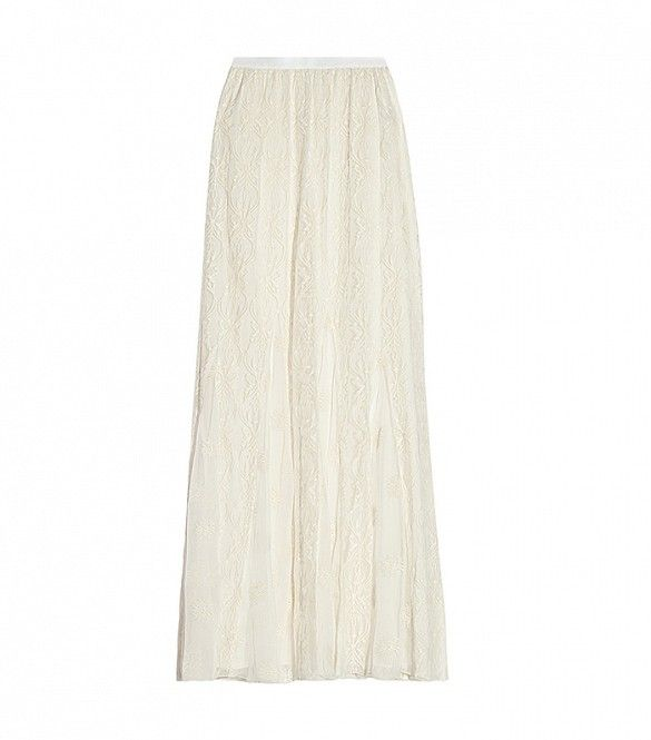 You'll look like an ethereal goddess in this frock. // Louie Embroidered Silk-Tulle Maxi Skirt by Alice + Olivia