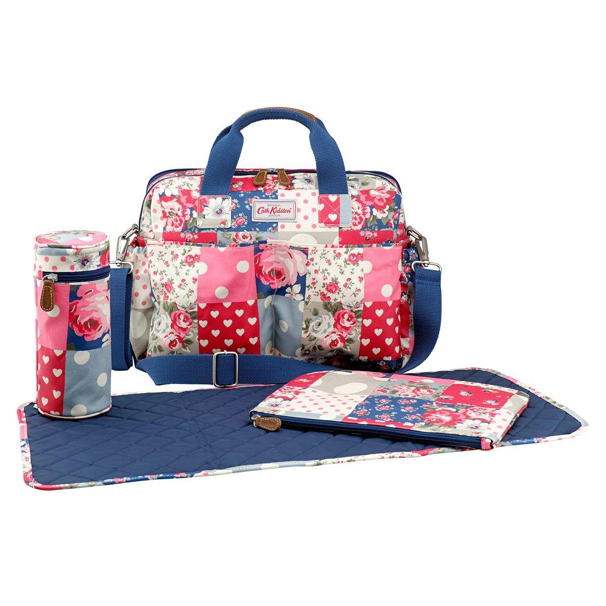 3ab01ff18a6d Patchwork Double Pocket Nappy Bag