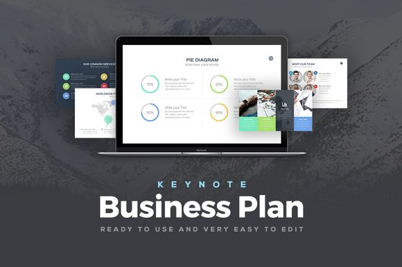 Business Plan Keynote Template by Rocketo Graphics on @creativemarket
