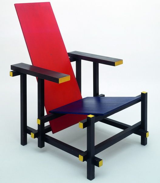 gerrit rietveld la chaise rouge et bleue 1917 assise pinterest mobilier design. Black Bedroom Furniture Sets. Home Design Ideas