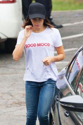 f3fc85aec1e9 Sub_Urban Riot Good Mood Loose Tee in White | Celeb Style ...