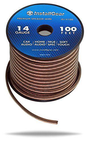 InstallGear 14 Gauge Ga Awg 100ft Speaker Cable True Spec and Soft ...