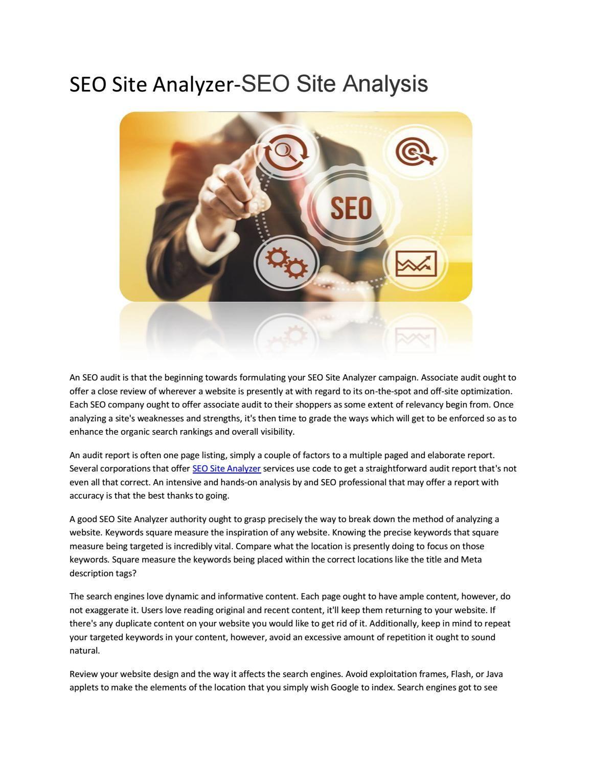 Seo Site AnalyzerSeo Site Analysis  Site Analyzer Seo Site And Seo