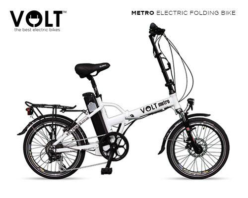 Volt Metro White Folding Electric Bike Folding Electric Bike