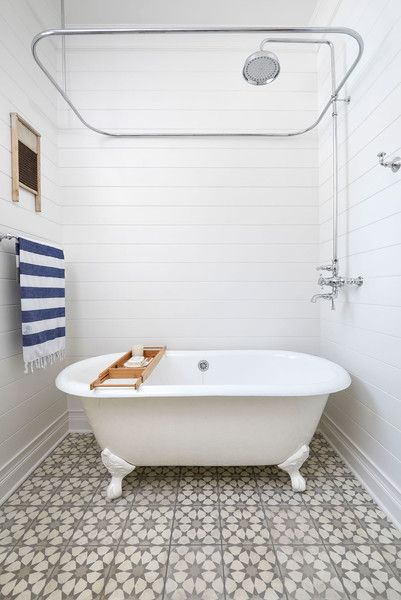 Bathing Beauty Bathroom Feature Wall Clawfoot Tub Shower