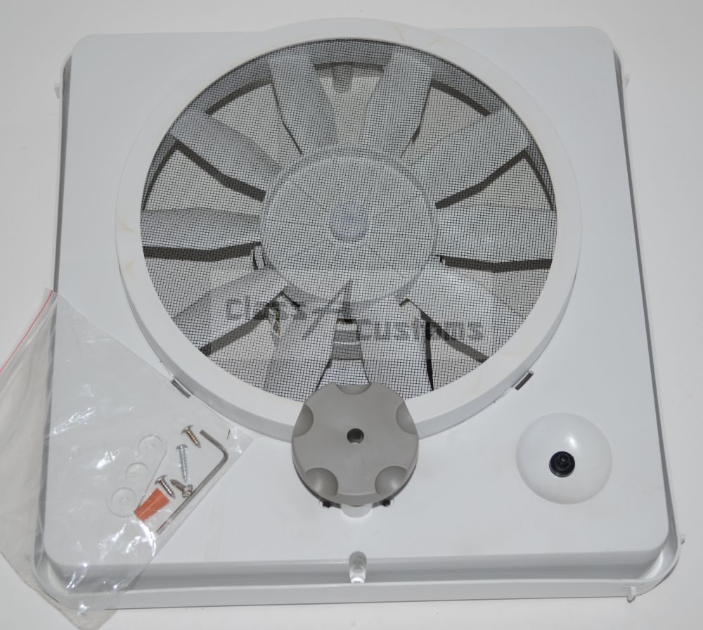 Rv Vortex 1 Single Speed Universal Roof Vent Fan Kit Upgrade 12 Volt Roof Vents Camper Trailers Air Fan