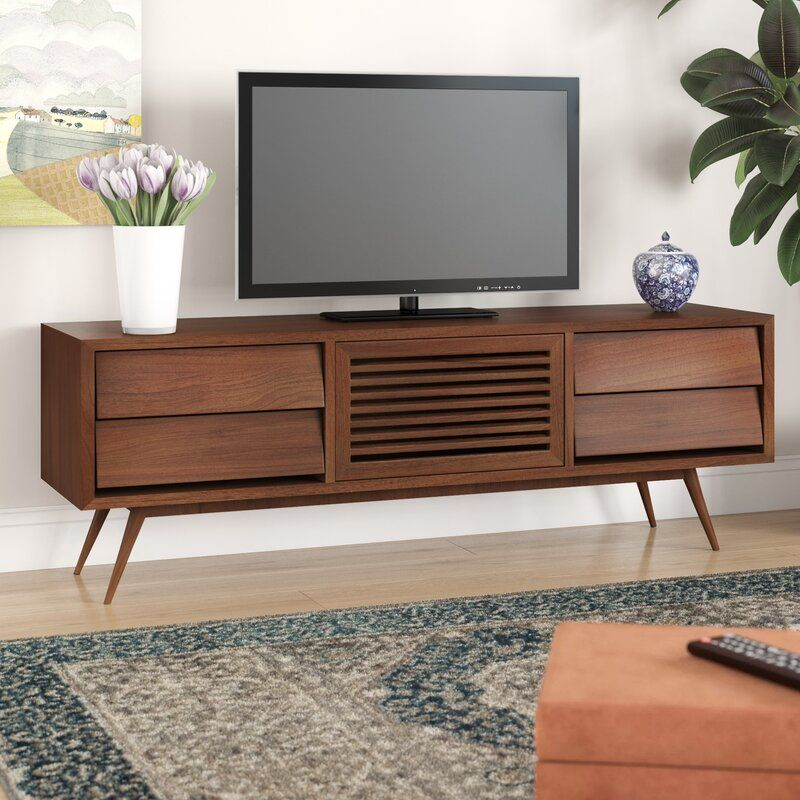 Garrick Solid Wood Tv Stand For Tvs Up To 78 Solid Wood Tv