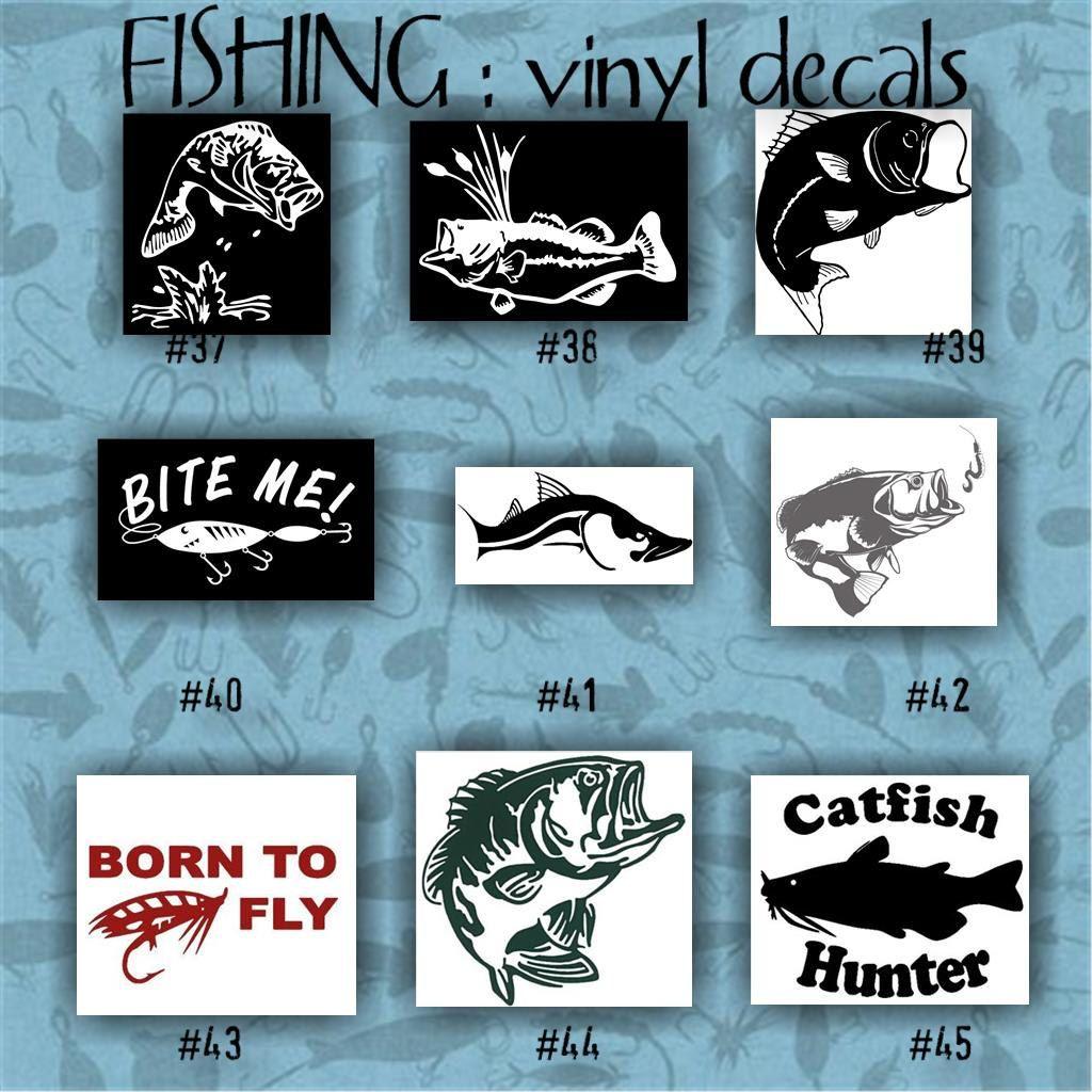 FISHING Vinyl Decals Car Decal Vinyl Sticker Laptop - Custom vinyl decals laptop
