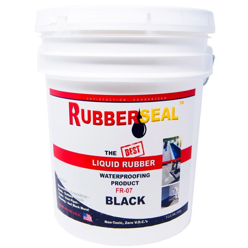 Rubberseal 5 Gal Black Liquid Rubber 10005050 Black Liquid Waterproof Paint Liquid Paint