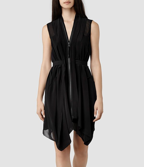 The LBD with an edge. AllSaints Lewis Dress | Womens Dresses | Pretty Little Liars