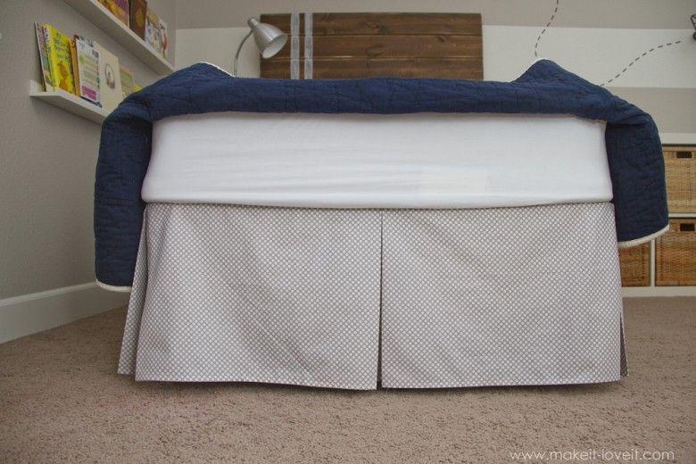 Diy Pleated Bed Skirt Diy Bed Skirt Bed Skirt Pattern Bedskirt