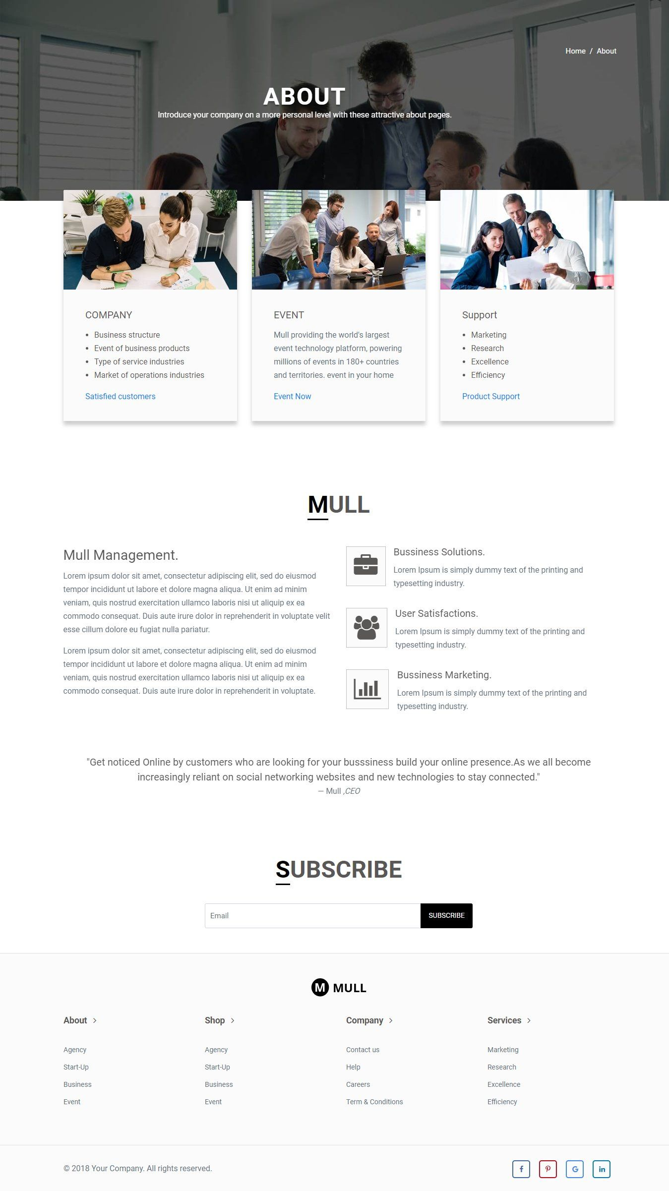 MULL Bootstrap 4 HTML Template Html templates