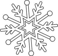Dessin Flocon De Neige Bricolage Noel Coloriage Noel Et Flocons