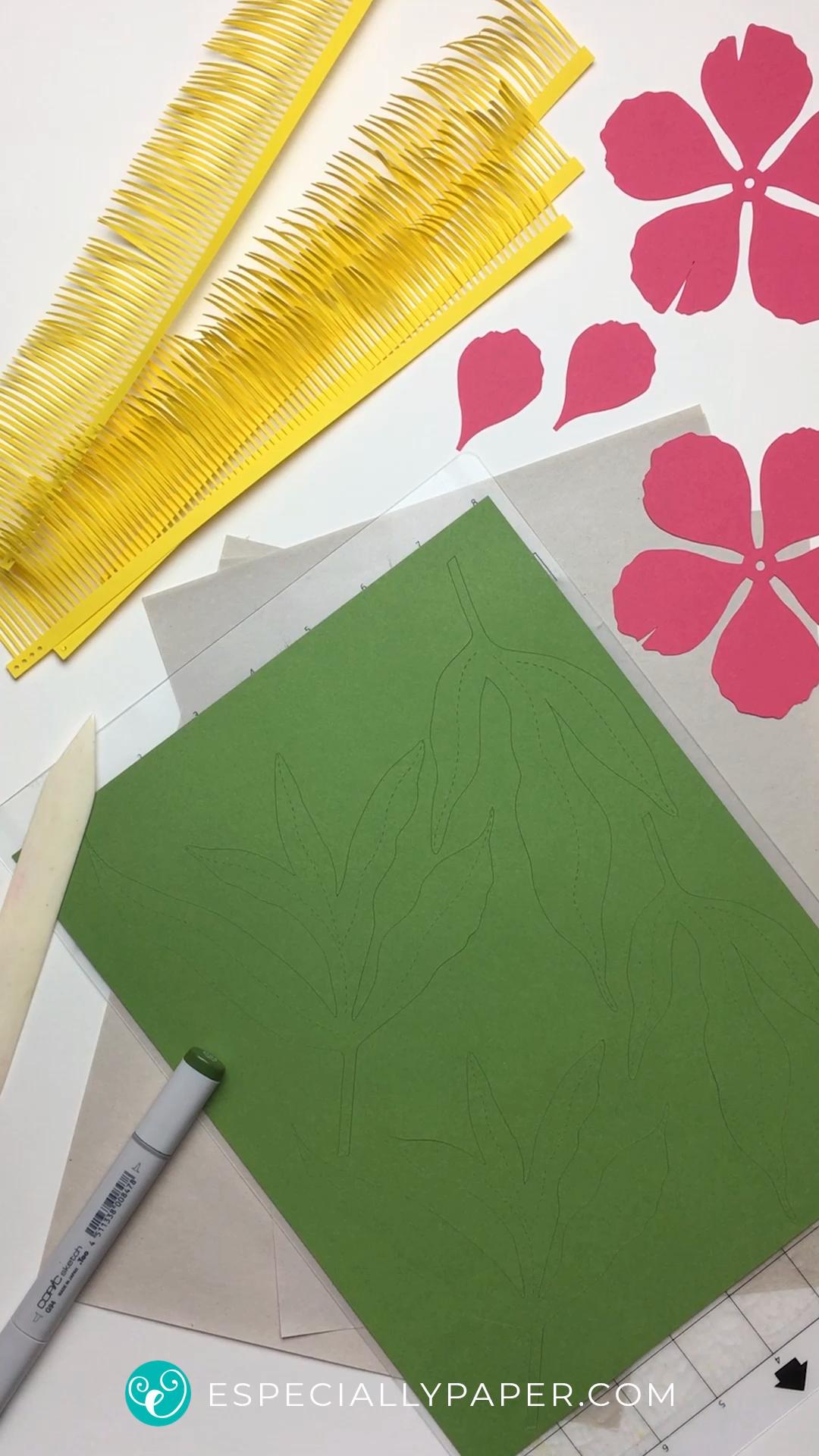 Papier blume Tutorial und SVGVorlage zu Händen