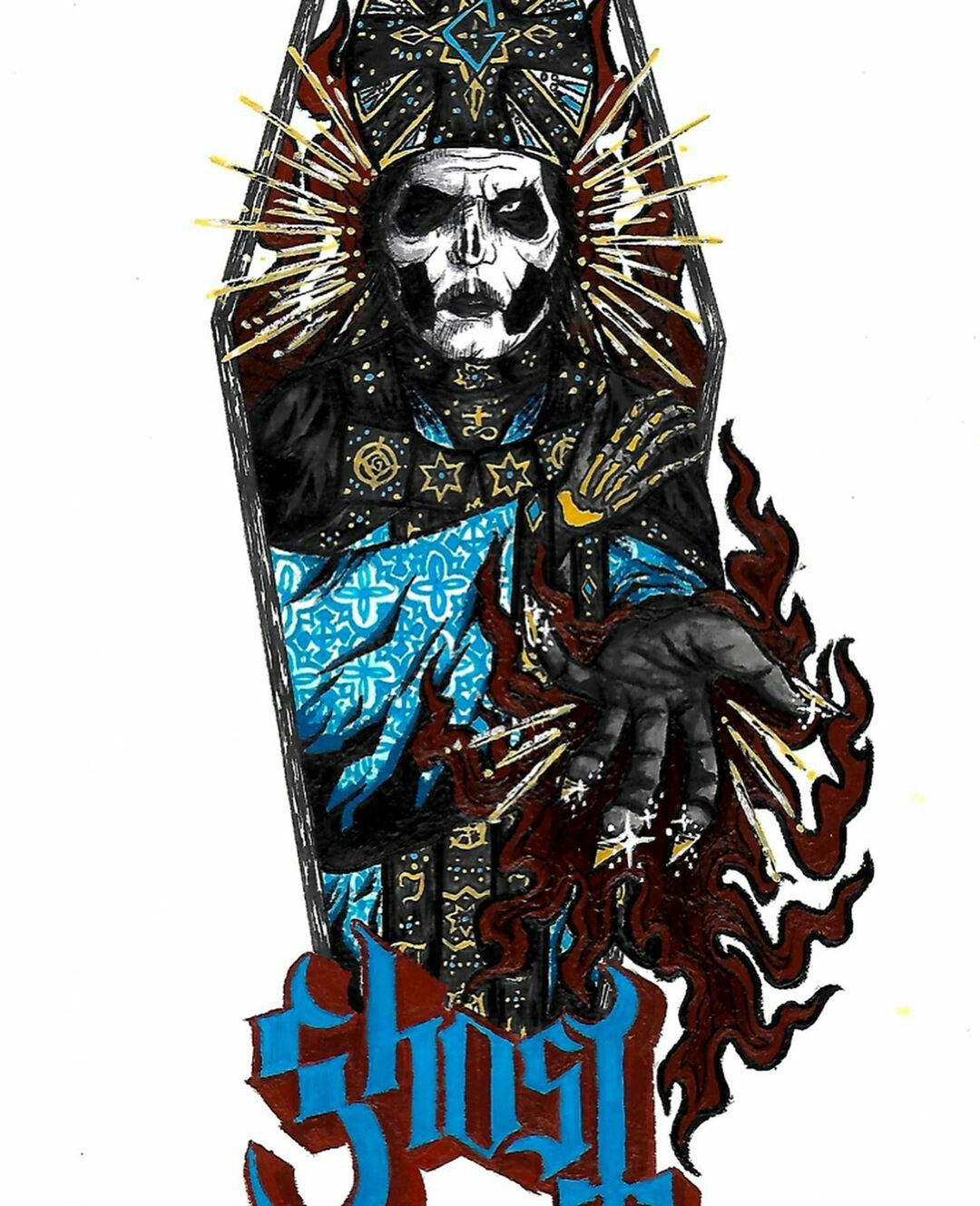 Papa Emeritus Iv By Crookedteethx Ghost Bc Band Ghost Ghost