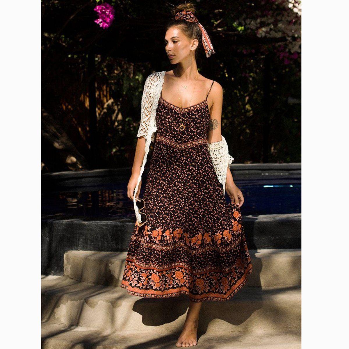 b1522f48d6 Lealo Boho Dress in 2019 | Boho | Dresses, Boho dress, Backless maxi ...