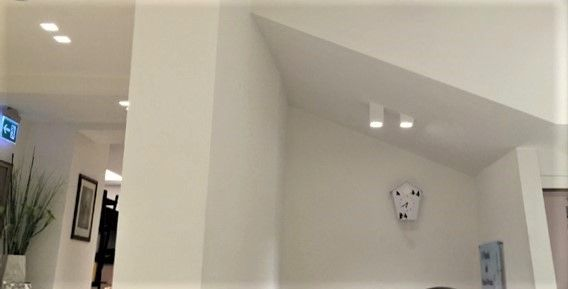 Luci a soffitto cubotti portafaretti led installati punti luce
